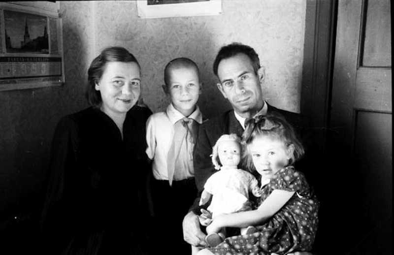 Борис Фрадкин с семьей