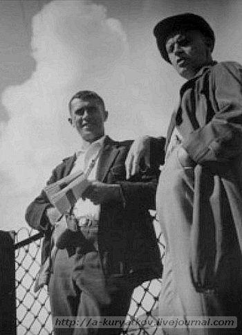 Анатолий Скурихин и Александр Родченко. 1933 г. фото Дмитрия Дебабова